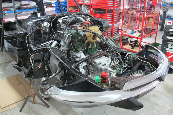 Montage du moteur sur le châssis