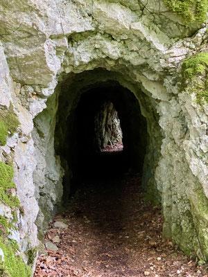 Tunnel creusé le long de l'Orbe