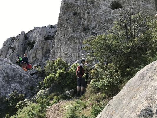 Les grimpeurs sur la Candelle