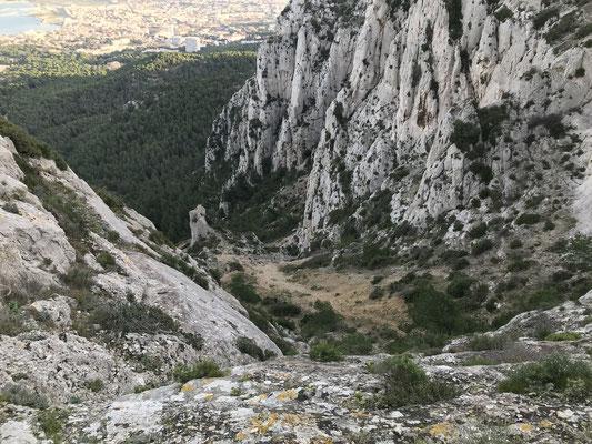 La montée vue du Col des Chèvres