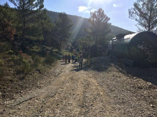 La montée vers l'ermitage
