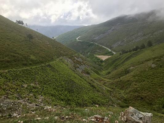 Première grosse montée après Pola de Allande.