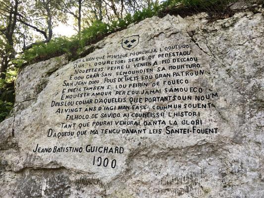 Texte en occitan, cette montagne a été un lieu de résistance lors de la dernière guerre