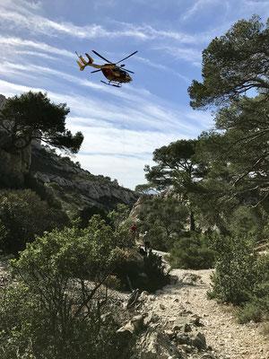 Suivi par l'hélicoptère