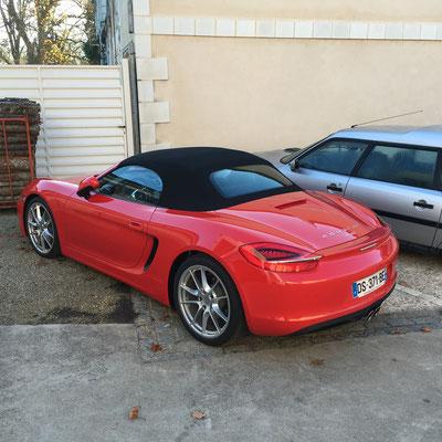 Christian vient en Porsche suivre les travaux sur sa DS