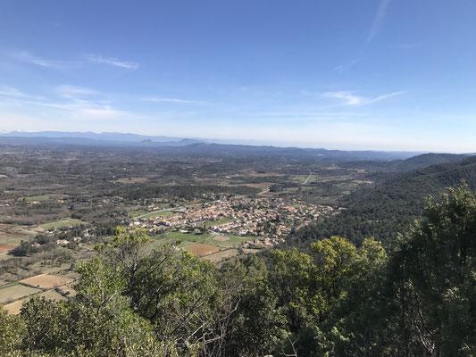 En haut de Piégu, le vue est superbe