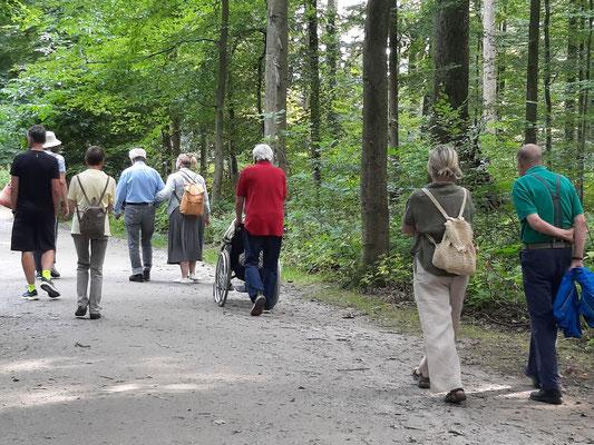 Bei bestem Wetter konnten die Teilnehmenden unseren ersten Walderlebnistag genießen und den interessanten Ausführungen der Waldpädagogin Astrid Walker folgen.