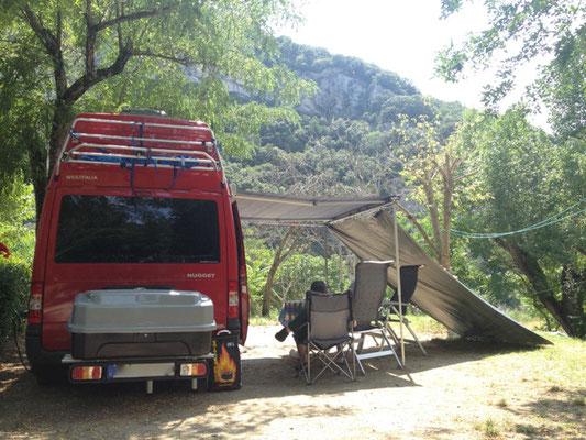 Unser wunderbares Plätzchen auf dem Campingplatz