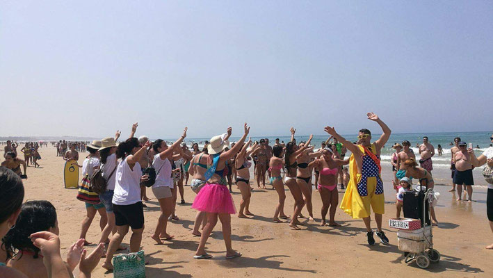 Animación en la playa de Tarifa