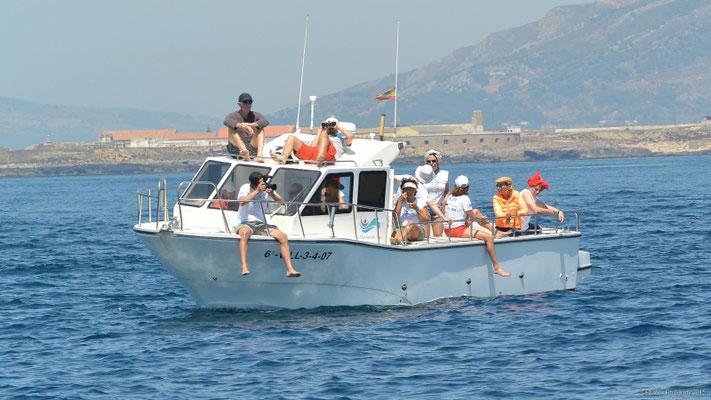 embarcación a motor con patrón Tarifa