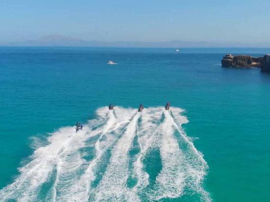 ruta en moto acuática en Tarifa