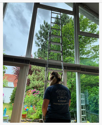 Kristall-Reinigungsservice - Reinigung großer Fenster