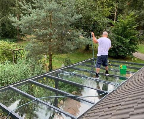 Kristall-Reinigungsservice Terrassendachreinigung