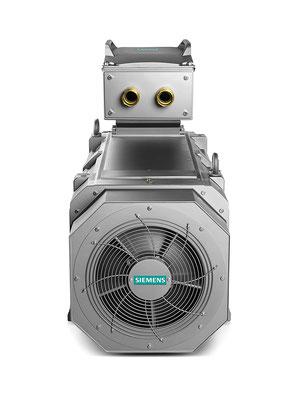 SIMOTICS FD luftgekühlt geschlossen, Eigenbelüftung, Rückansicht © Siemens AG 2019, Alle Rechte vorbehalten