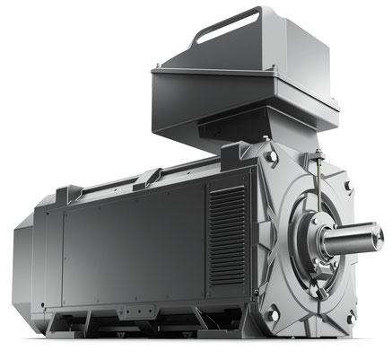 SIMOTICS FD - Luftgekühlte Ausführung - Seitenansicht / Style © Siemens AG 2020, Alle Rechte vorbehalten