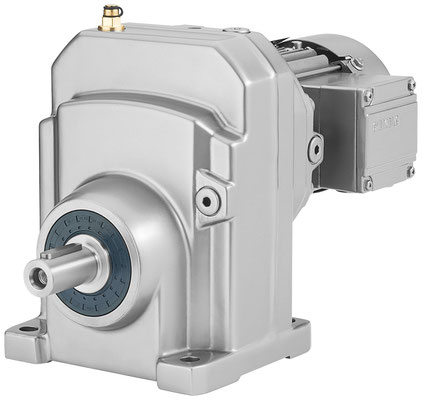 SIMOGEAR Stirnradgetriebemotor, einstufige Ausführung, Schrägansicht © Siemens AG 2020, Alle Rechte vorbehalten
