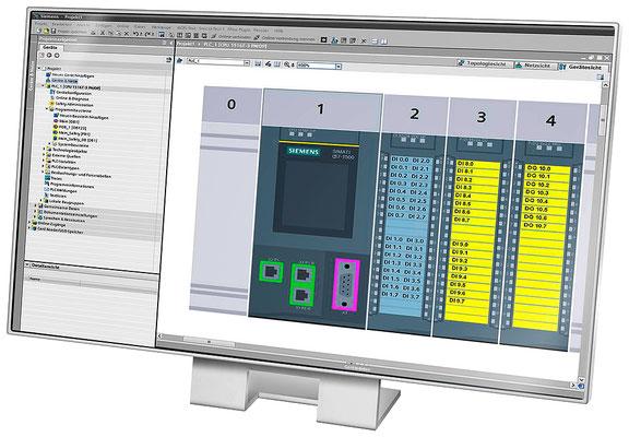 TIA Portal Gerätesicht mit CPU 1516F und Safety I/O Module © Siemens AG 2020, Alle Rechte vorbehalten