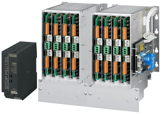 Power supply SITOP PSU100L and subrack for the SIPLUS HCS716I heating control © Siemens AG 2020, All rights reserved