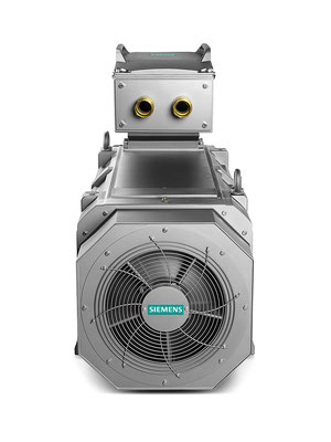 SIMOTICS FD enclosed air-cooled, self ventilation, back side © Siemens AG 2020, All rights reserved
