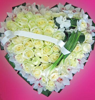 D20 Coeur blanc et vert