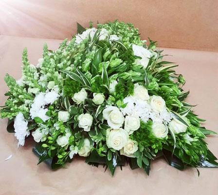 Coeur vert et blanc
