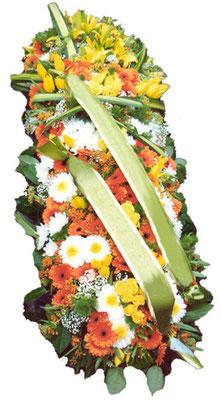 D41 Dessus de cercueil blanc jaune et orange