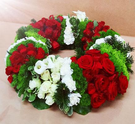 D35 Couronne rouge blanche et verte