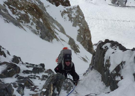 David  im Aufstieg nach Lager II © G.Kaltenbrunner