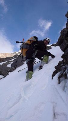 Gerlinde im Aufstieg nach Lager II © D.Göttler