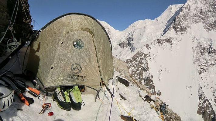 Unser Biwakzelt auf 6300 m