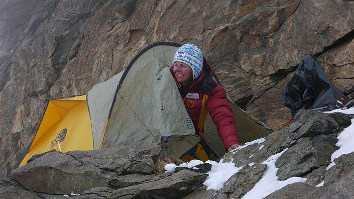 Ausgesetzter Lagerplatz auf 7100 m