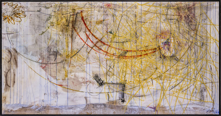 o.T. 2012  MIXEDMEDIA AUF MEHRSCHICHTKUNSTHARZ  190 x 100