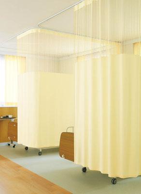 病院用防炎カーテン