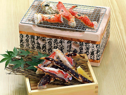 タラバ蟹太郎の網焼き