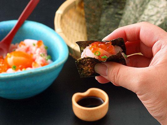 海の宝石 手巻き寿司