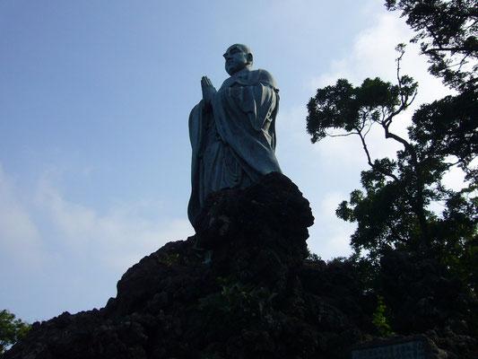 旭ヶ森の日蓮聖人像