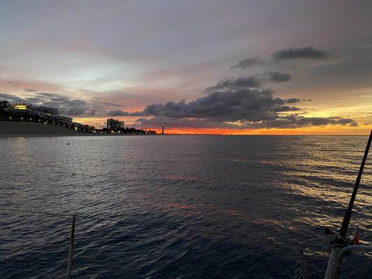 Am nächsten Morgen ging es dann früh aus den Federn, da wir die ca. 55 Seemeilen nach Las Palmas de Gran Canaria an dem Tag schaffen wollten.