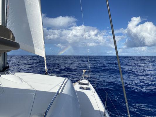 ... dahinten am Fuße des Regenbogens liegt Nassau!