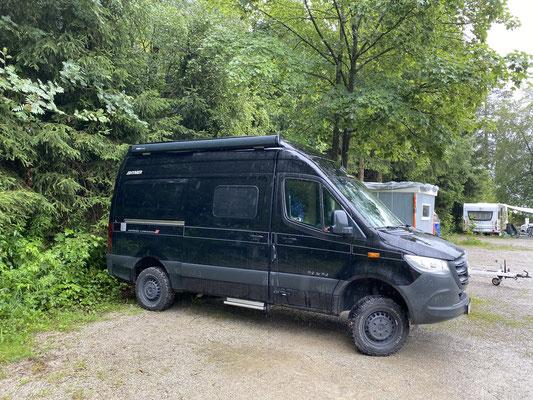 """Am nächsten Tag geht es weiter in den Harz nach """"Kreuzeck"""" ... auch hier bekomme ich noch einen Stellplatz ..."""