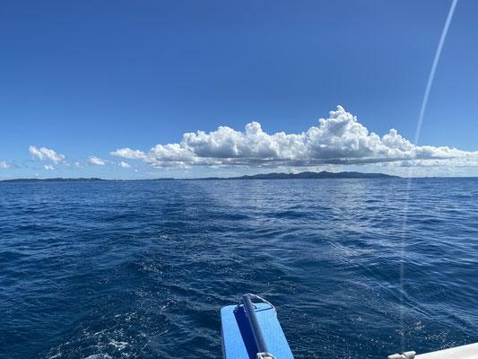 ... und habe Antigua im Kielwasser hinter mir gelassen!