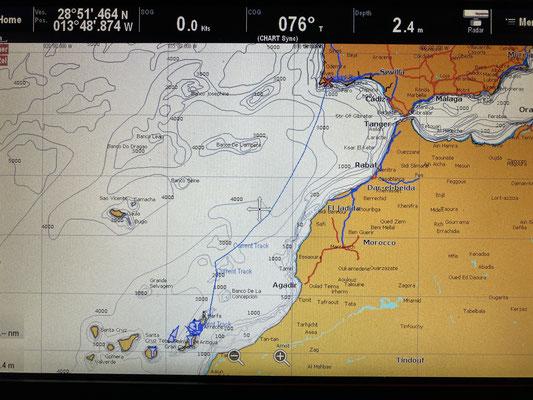 Heute soll es losgehen Richtung Lanzarote ... knapp 600 Seemeilen ... ablegen um 09:30 Uhr ... ein bisschen hibbelig war ich vor meinem ersten Törn mit der Indigo Moon schon!