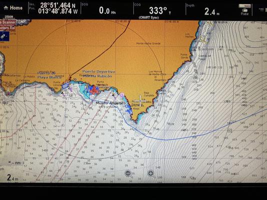 Nach vier Tagen geht es dann um die Südspitze Richtung Marina Rubicon, wo ich bis Mitte November bleiben werde.