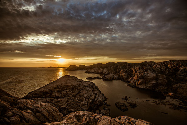 Sonnenuntergang in Lindesnes