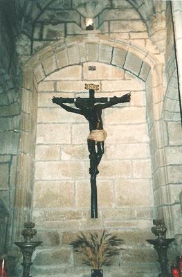 """""""Cristo Negro"""" de la Catedral de Cáceres. Talla de madera policromada. S. XIV. Estado final."""
