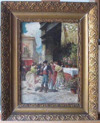"""""""Día de fiesta"""", de Ángel Lizcano. Óleo/lienzo. Colección particular. Estado final."""