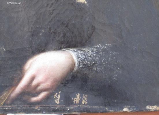 Proceso de limpieza. Eliminación de barniz oxidado y repintes.