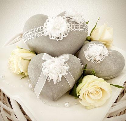 Tischdeko aus Steinen