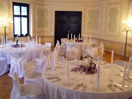 Hochzeitstafel im Bergschlössl Linz