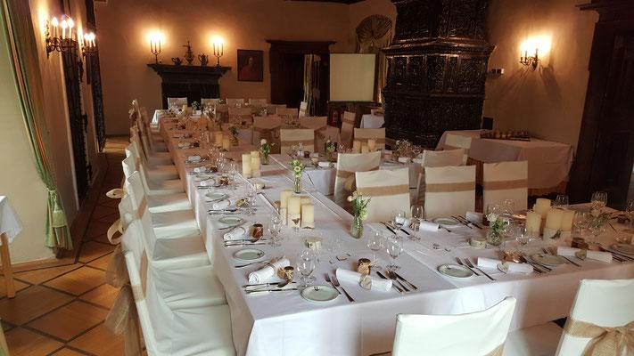 Hochzeitstafel Schloss Ottenstein - Waldviertel