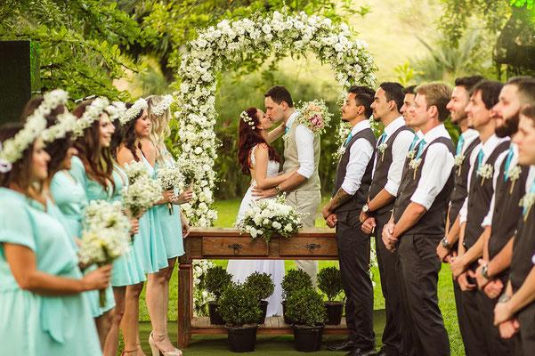 Groomsmen und Bridesmaids
